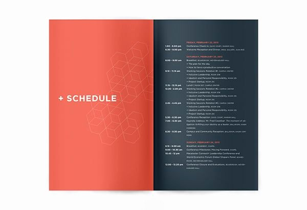 Conference Program Booklet Template Best Of Connect Leadership Conference On Behance