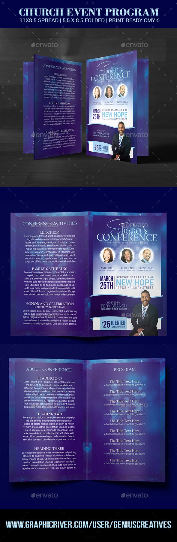 Conference Program Booklet Template Elegant Church Conference Program Template by Geniuscreatives