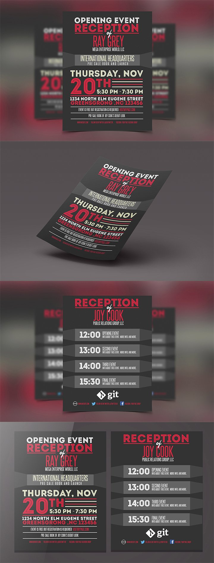 Conference Program Booklet Template Fresh event Program Template Psd Flyer Brochure Graphicfy
