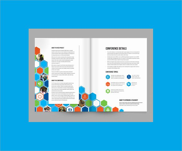 Conference Program Booklet Template Inspirational 16 Sample Elegant Conference Brochure Templates Documents