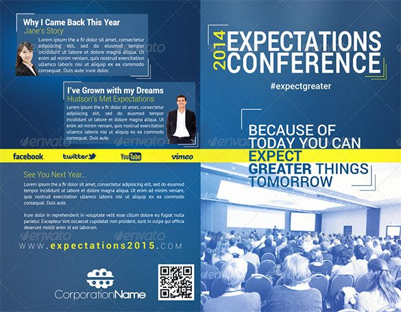 Conference Program Booklet Template New 19 Conference Brochure Templates Free Psd Eps Ai