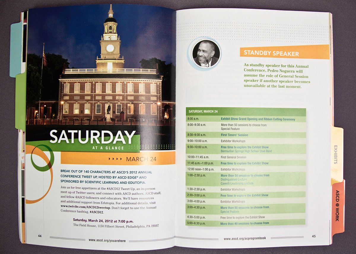 Conference Program Booklet Template New 2012 ascd Conference Program Book On Behance