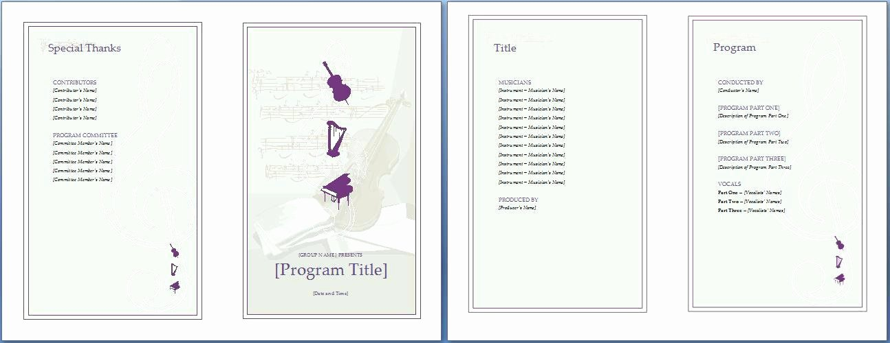 Conference Program Booklet Template Unique event Program Booklet Template the Music Invitation Will