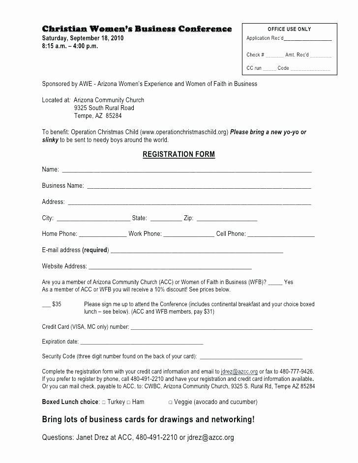 Conference Registration form Template Word Beautiful Conference Registration form Template Word – Haydenmedia