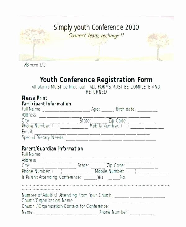 Conference Registration form Template Word Beautiful event Registration form Template Word Alluring Templates