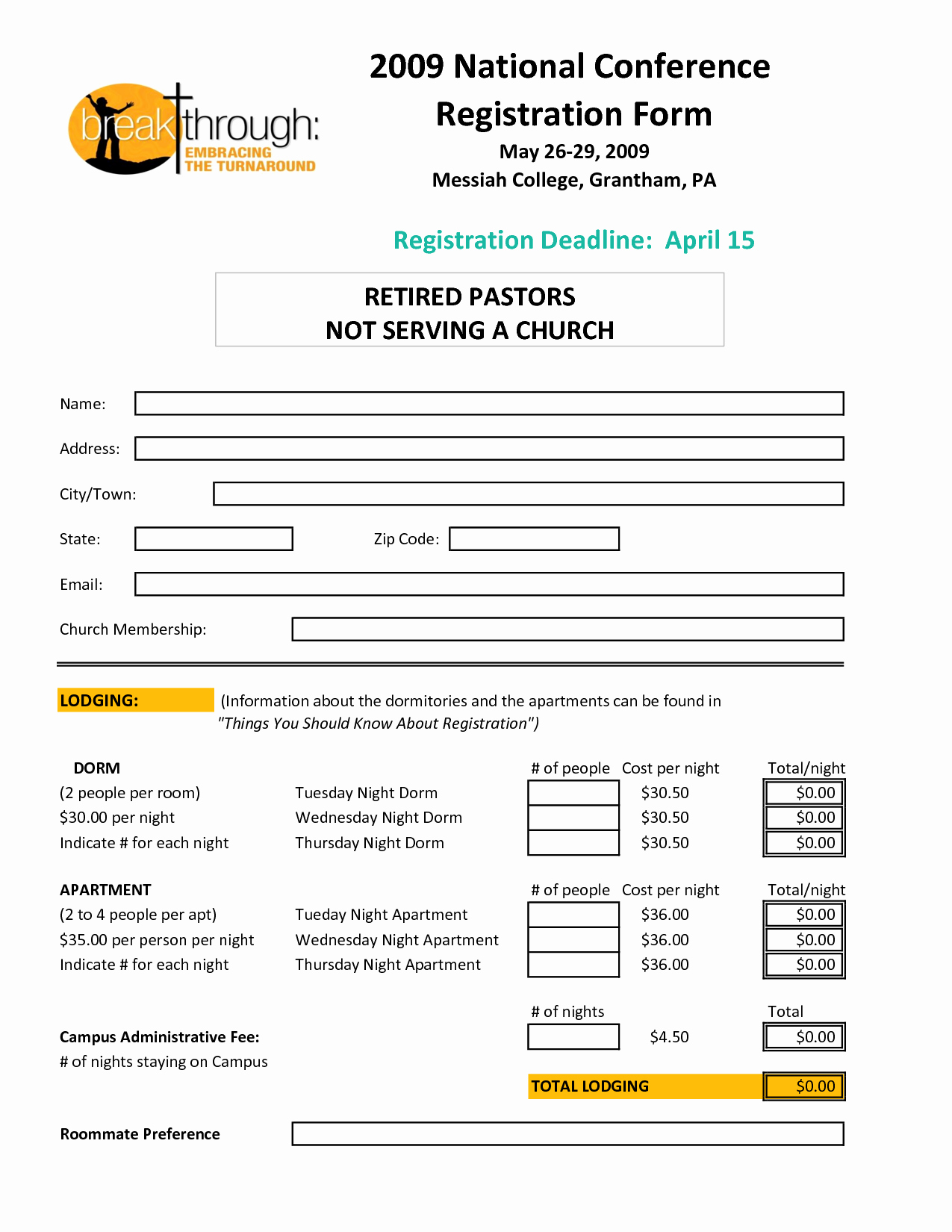 Conference Registration form Template Word Best Of Registration form Template
