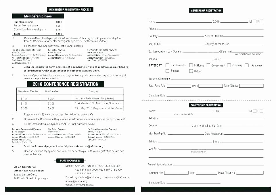 Conference Registration form Template Word Lovely Registration Template Word – Skincense