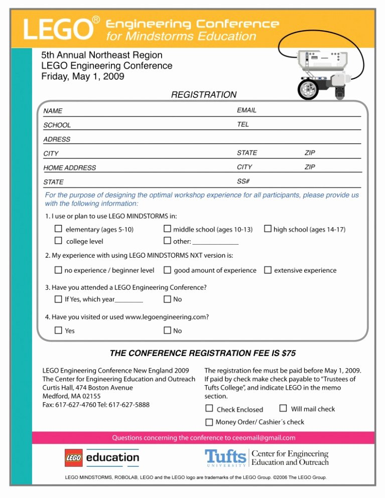 Conference Registration form Template Word New 14 Facts About event