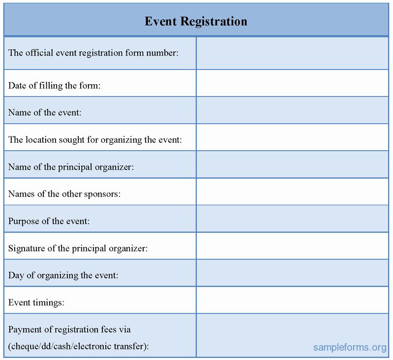Conference Registration forms Template Best Of event Registration form Sample forms