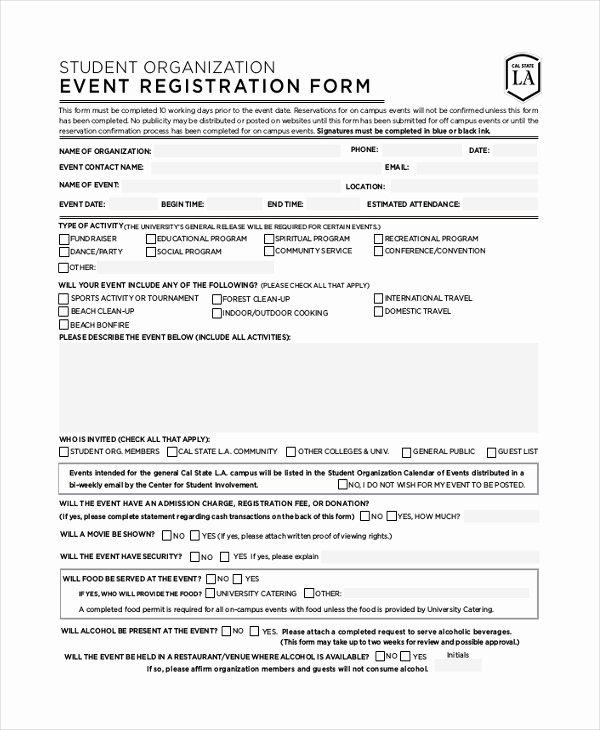 Conference Registration forms Template Elegant Health Fair Registration form Template