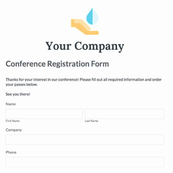 Conference Registration forms Template Luxury the Gallery for Kamil Mcfadden