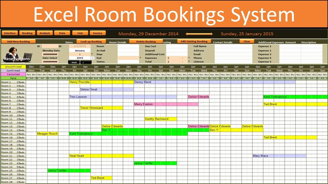 Conference Room Scheduling Template Fresh Excel Room Bookings Calendar