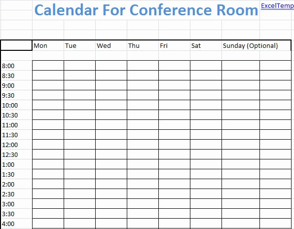 Conference Room Scheduling Template New Conference Room Calendar