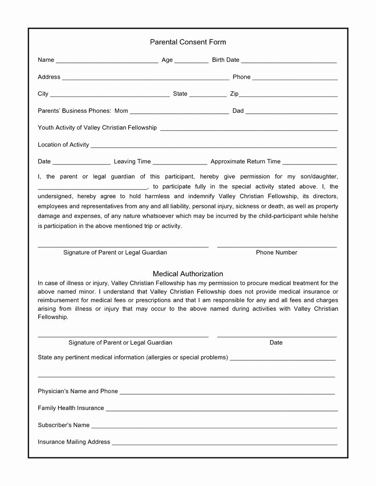 Consent to Treat form Template Best Of Permission to Treat form Template – Versatolelive