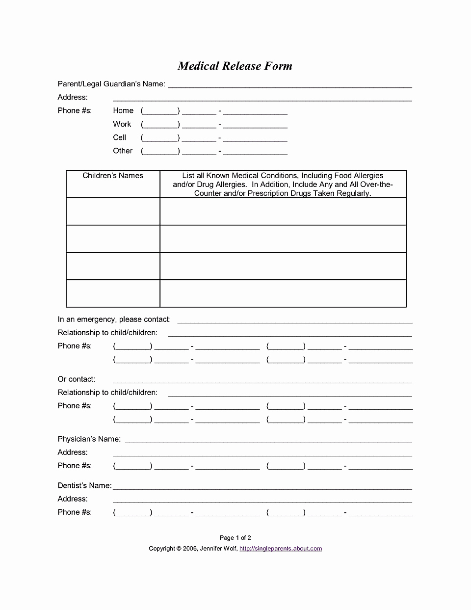 Consent to Treat form Template Elegant Medical Release form Consent to Treat Your Kids Free