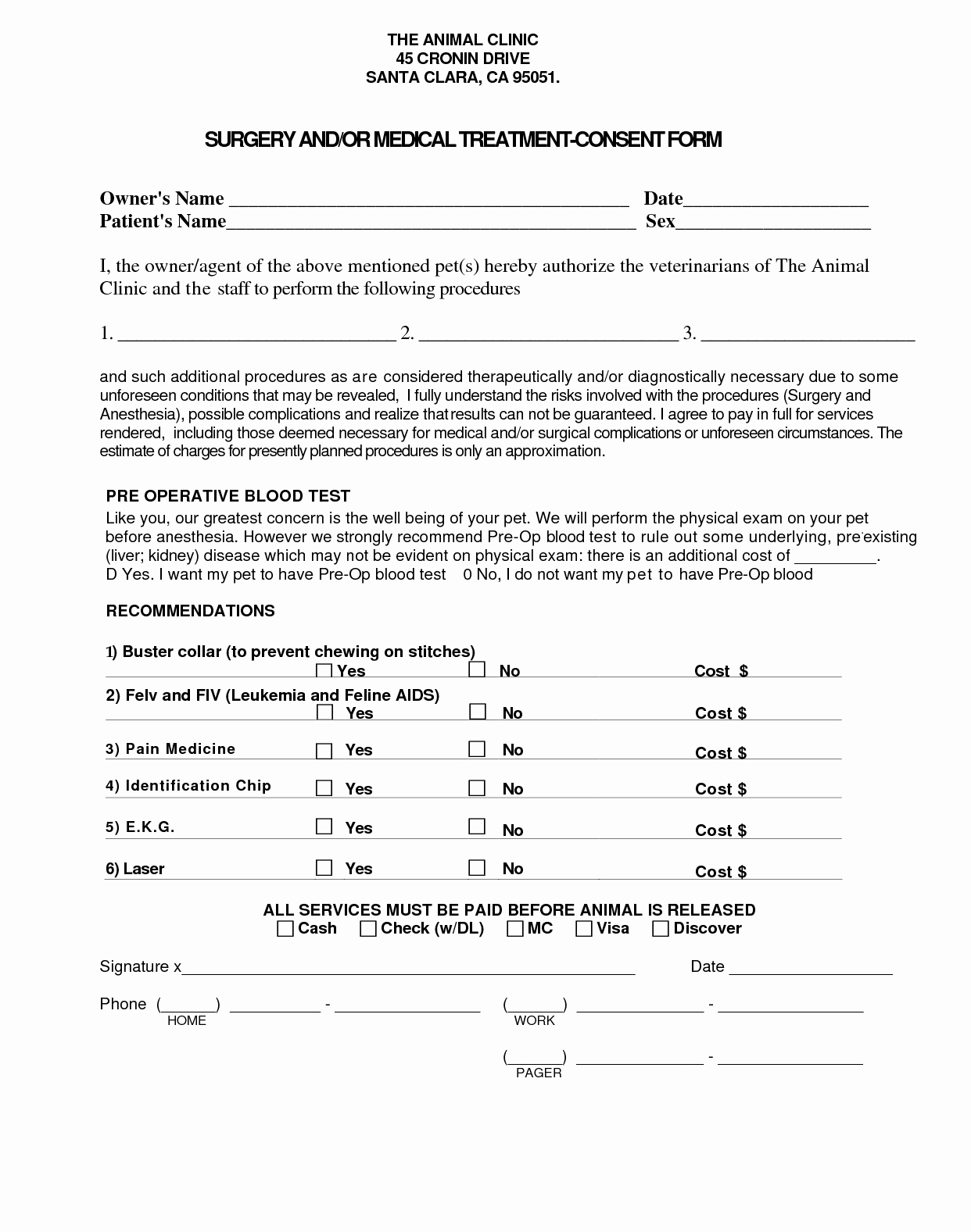 Consent to Treat form Template Elegant Medical Treatment Consent form Template My Work