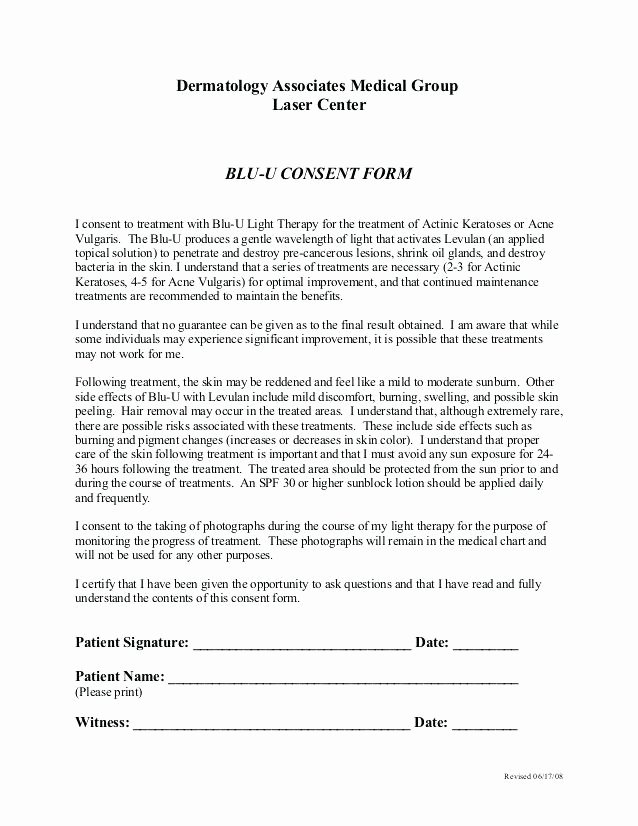 Consent to Treat form Template Luxury Consent for Medical Treatment Letter Permission Slip