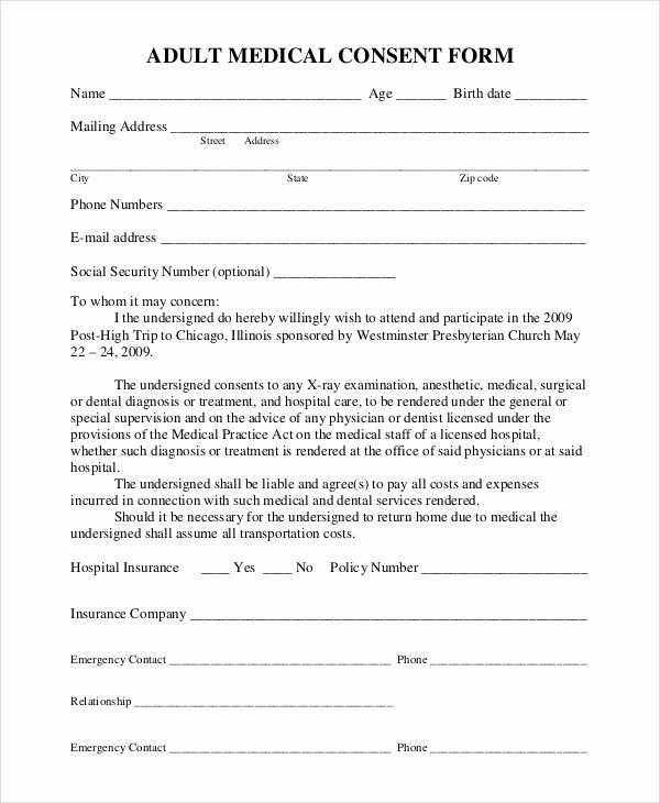 Consent to Treat form Template Luxury Medical Treatment Consent form Driverlayer Search Engine