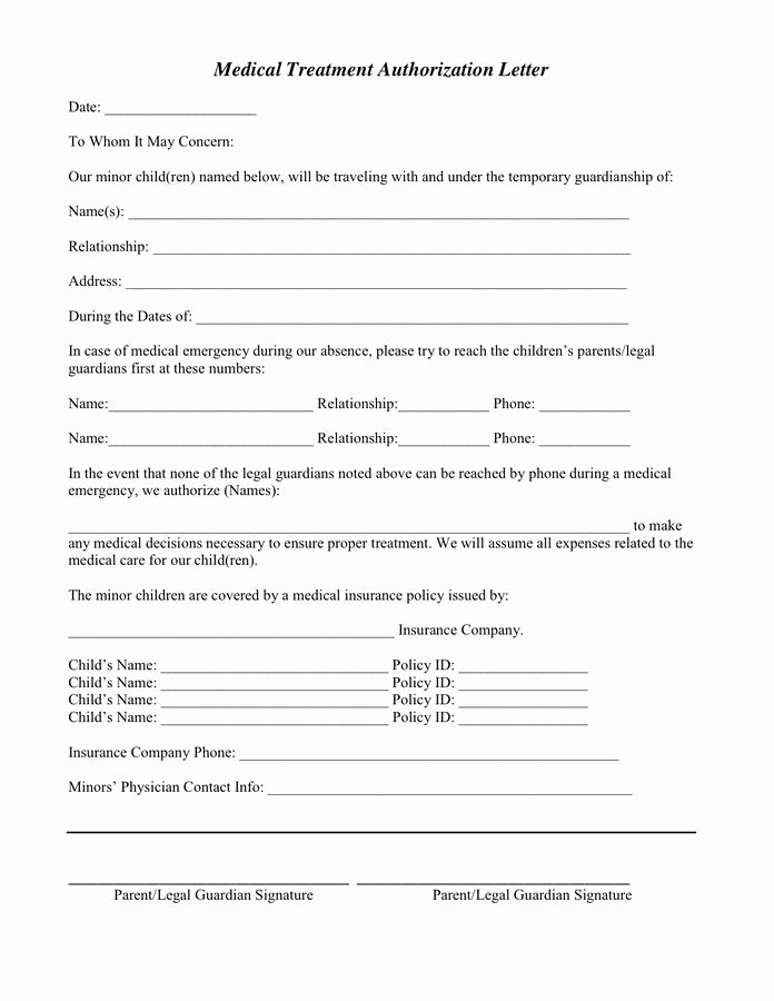 Consent to Treat form Template Luxury the 25 Best Medical Consent form Children Ideas On