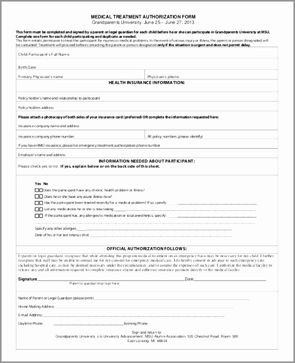 Consent to Treat form Template New Free Printable Medical Consent form Simple Permission to