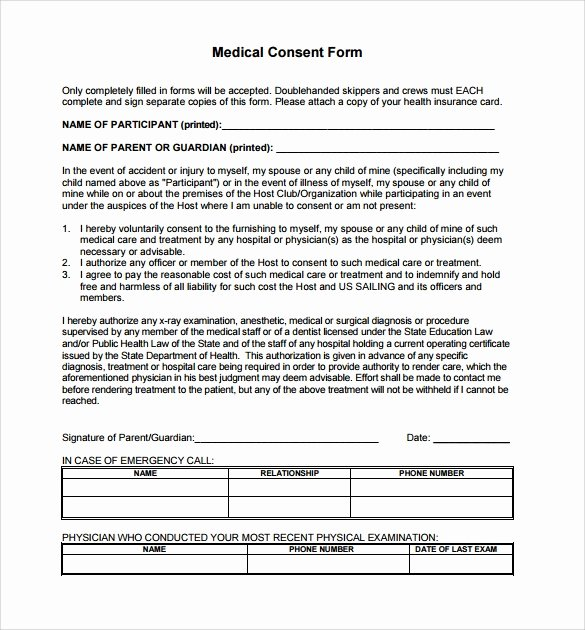 Consent to Treat form Template Unique 14 Medical Consent form Templates – Free Samples