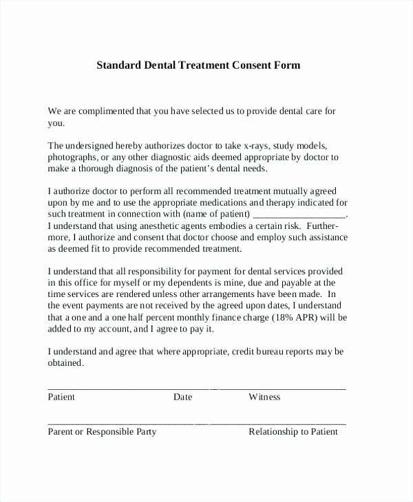 Consent to Treat form Template Unique Consent for Medical Treatment Letter Permission Slip