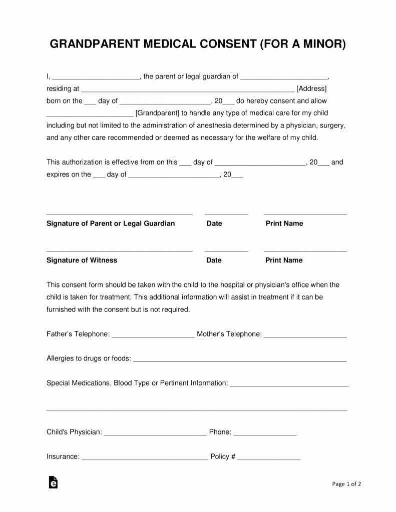 Consent to Treat form Template Unique Permission to Treat form Template – Versatolelive