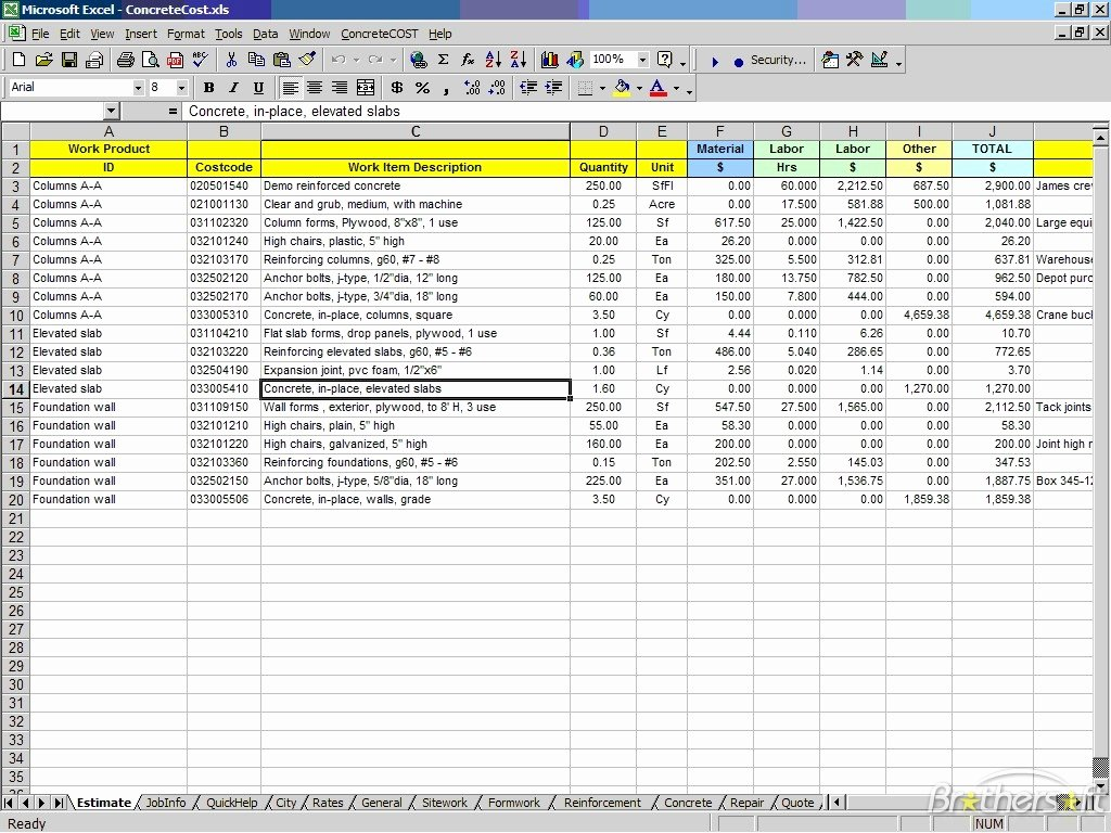 Construction Bid Proposal Template Excel Fresh Construction Bid Proposal Template Excel Excel About