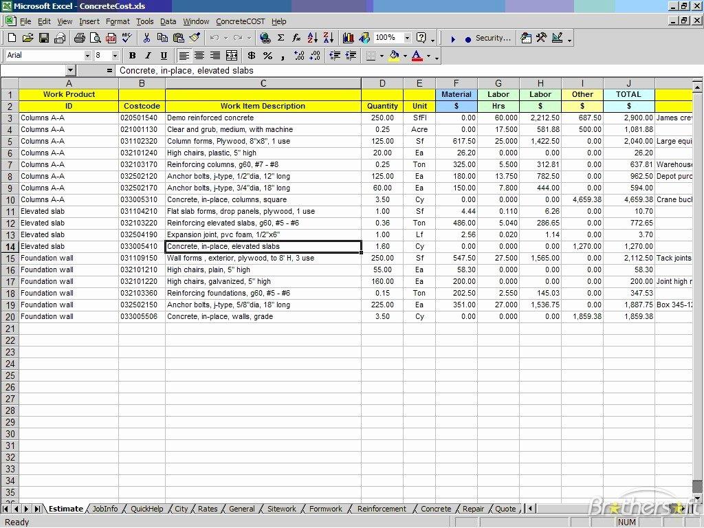 Construction Bid Proposal Template Excel Fresh Construction Bid Proposal Template Excel Excel About