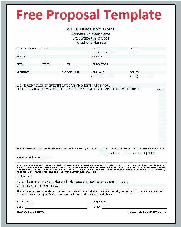 Construction Bid Proposal Template Excel Fresh Construction Bid Proposal Template Word Full Size