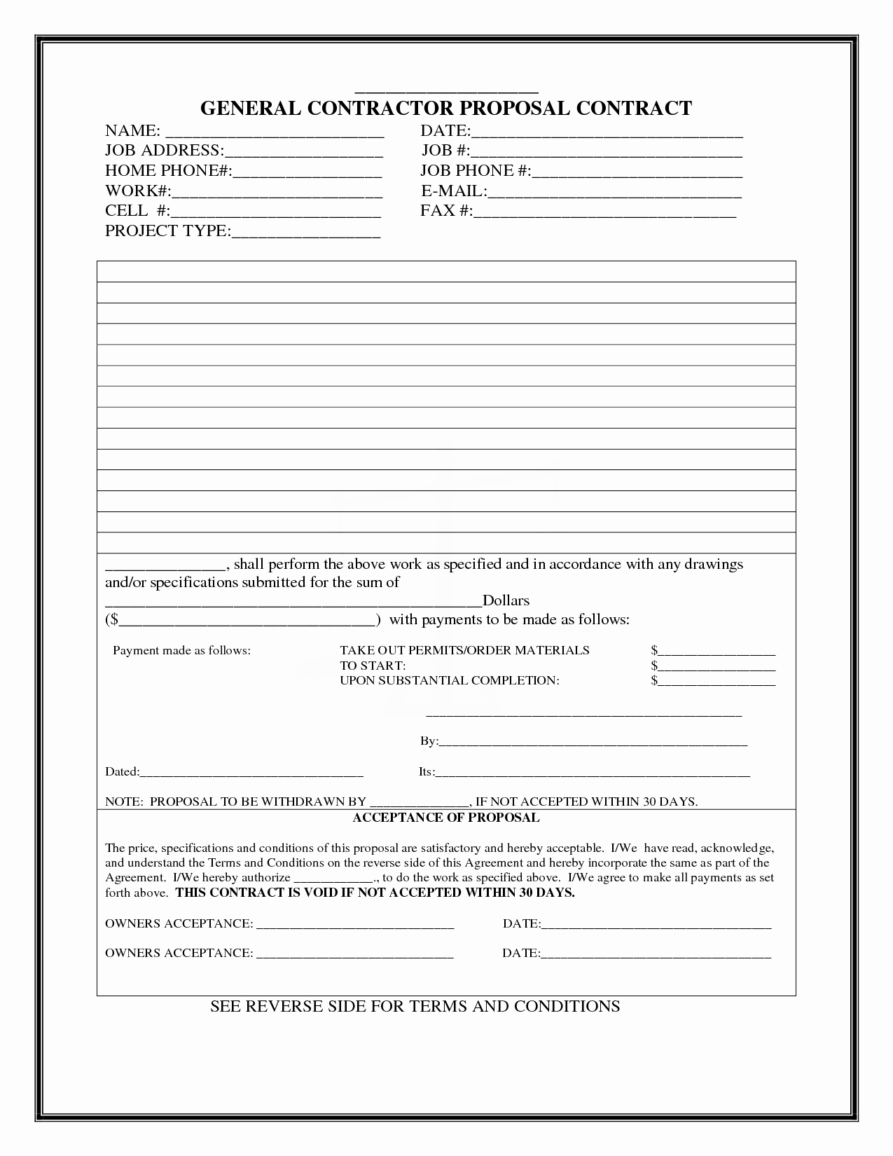 Construction Bid Proposal Template Fresh Construction Proposal Template