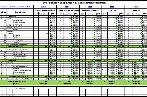 free construction estimate template excel 3954