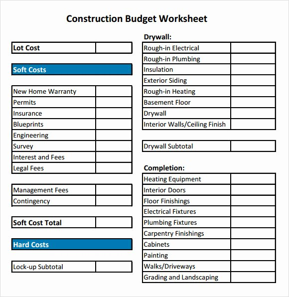 Construction Budget Template Excel Awesome 8 Construction Bud Samples Examples Templates