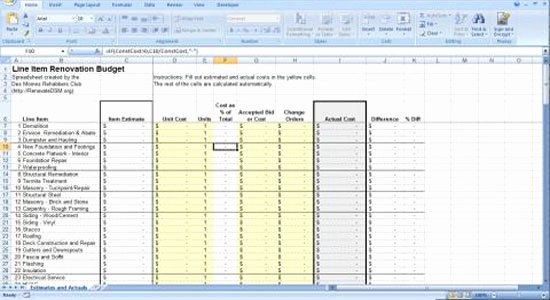 Construction Budget Template Excel Beautiful Free Excel Home Construction Bud Template General