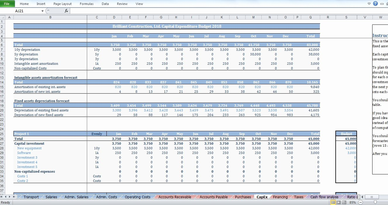 Construction Budget Template Excel Fresh Construction Bud Template Cfotemplates