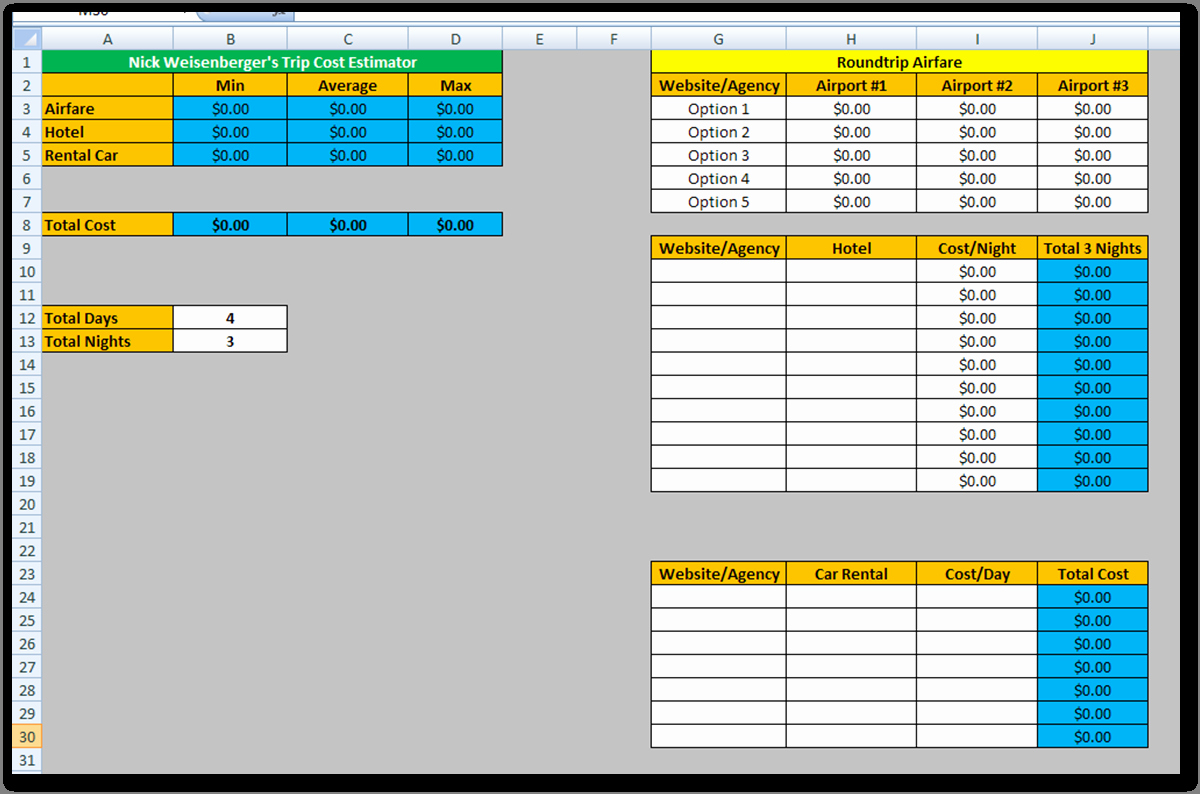 Construction Cost Estimate Template Excel Awesome Estimating Spreadsheet Template Spreadsheet Templates for