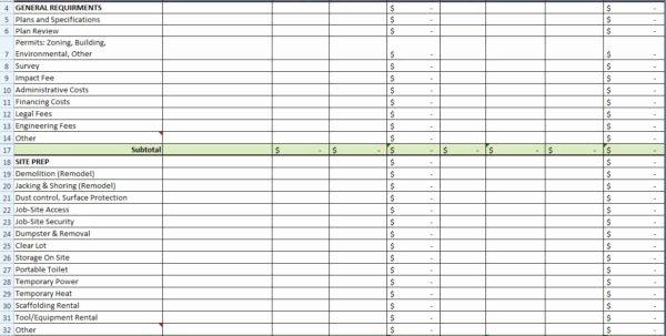 Construction Cost Estimate Template Excel Beautiful Residential Construction Cost Estimator Excel 1 Estimate
