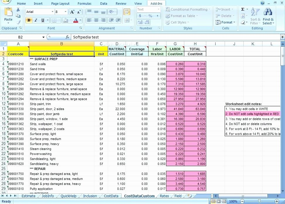 Construction Cost Estimate Template Excel Lovely Excel Construction Bid Template Home Cost Estimate Sheet