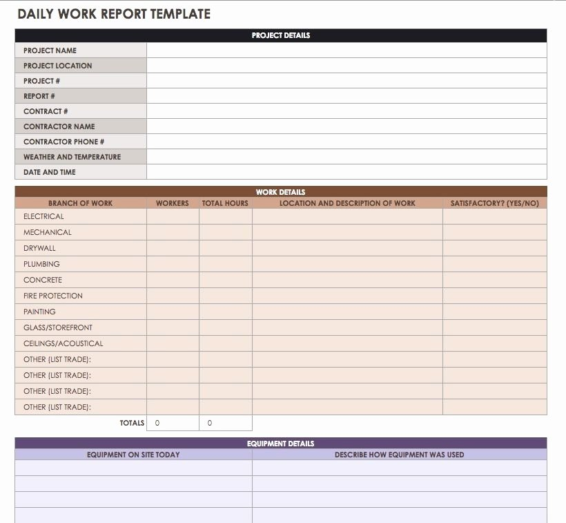 Construction Daily Log Template New Construction Daily Reports Templates or software Smartsheet