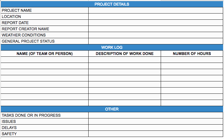 Construction Daily Report Template Excel Beautiful Construction Daily Reports the Ultimate Guide