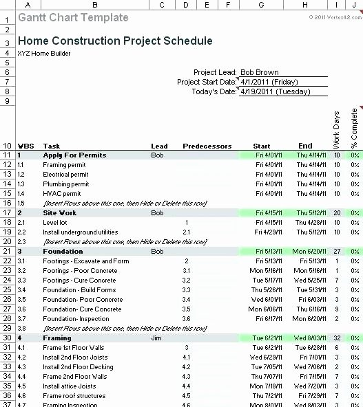Construction Draw Schedule Template Inspirational New Home Construction Schedule Construction Project