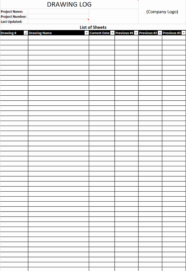 Construction Draw Schedule Template Unique Download Free Drawing Log Template