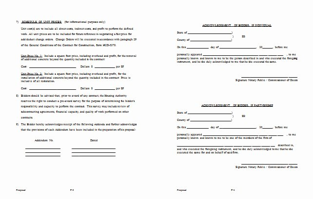 Construction Estimate Template Word Awesome Construction Bid Proposal Example Templates Resume