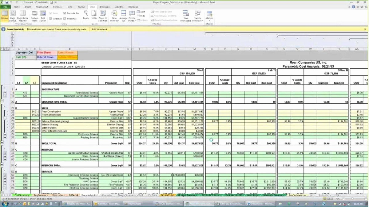 Construction Estimating Spreadsheet Template Fresh Construction Estimating Spreadsheets