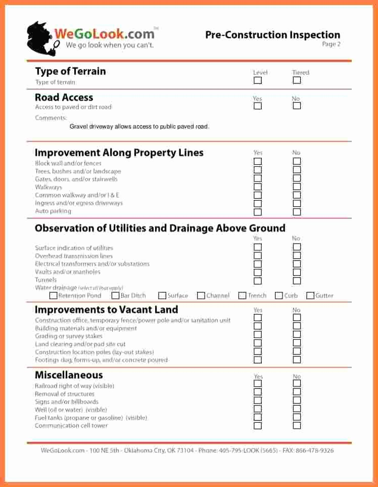 Construction Field Report Template Best Of 9 Construction Inspection Report Template