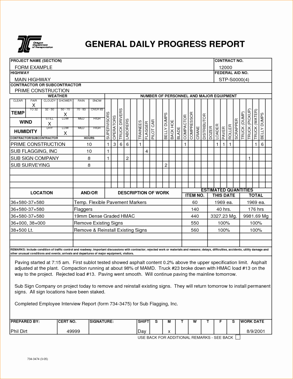 Construction Field Report Template Fresh Construction Field Report Sample Observation Template