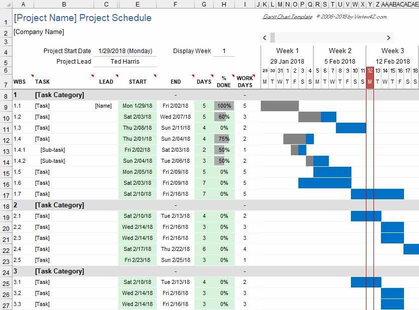 Construction Gantt Chart Excel Template Awesome Free Gantt Chart Template for Excel