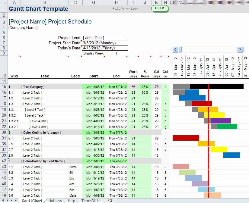 Construction Gantt Chart Excel Template Luxury Gantt Chart Template Pro for Excel