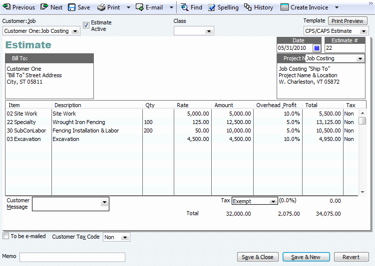 Construction Job Estimate Template Best Of Quickbooks Tip Adding Project Information to Invoices