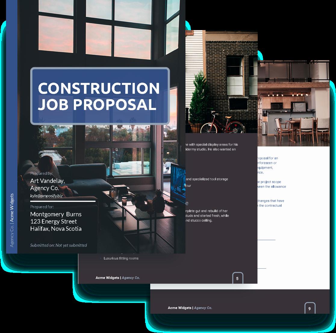 Construction Job Proposal Template Best Of Job Proposal Template Free Sample